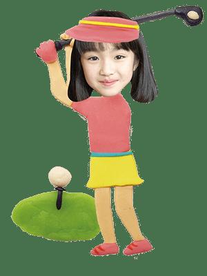 プロゴルファー女子
