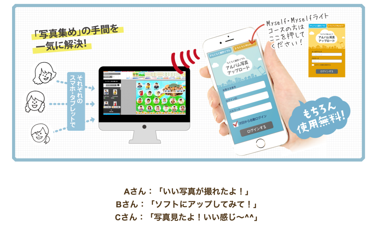 写真アップアプリ