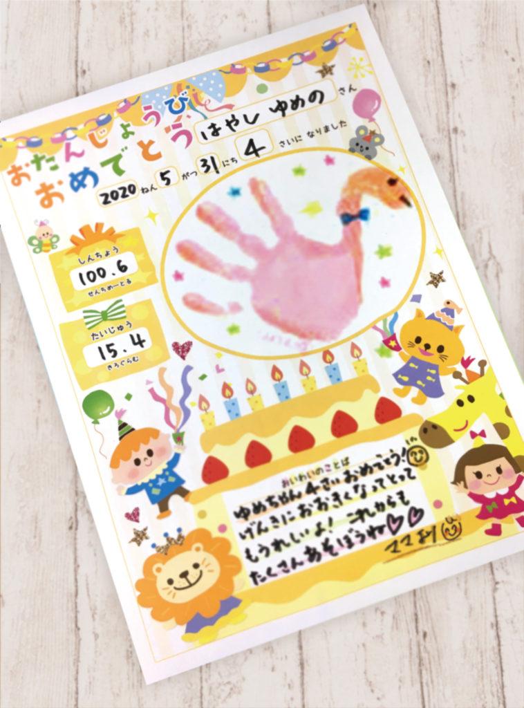 手形アートを描いたイメージ